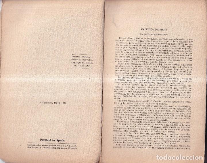 Libros antiguos: EL ESCORPIÓN DE ORO - SAX ROHMER - EDICIONES ESPECIALES NOVELA AVENTURAS 107 - 1929 - Foto 2 - 262910480