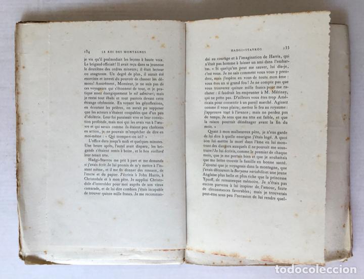 Libros antiguos: LE ROI DES MONTAGNES. - ABOUT, Edmond. - Foto 5 - 267054284