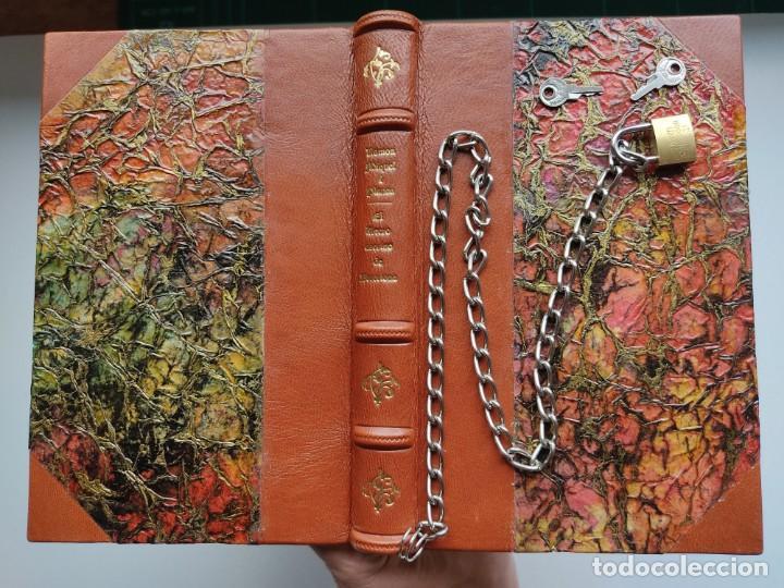 Libros antiguos: ¡¡ Libro encadenado artesanal !! El librero asesino de Barcelona (1991)/ Ramón Miquel i Planas - Foto 2 - 267406179