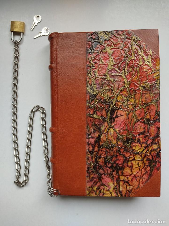 Libros antiguos: ¡¡ Libro encadenado artesanal !! El librero asesino de Barcelona (1991)/ Ramón Miquel i Planas - Foto 3 - 267406179