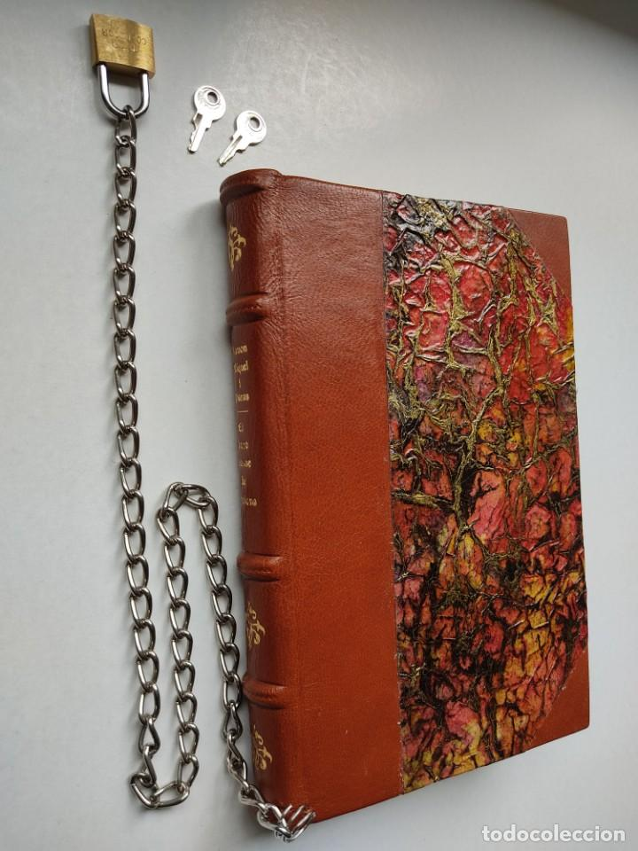 Libros antiguos: ¡¡ Libro encadenado artesanal !! El librero asesino de Barcelona (1991)/ Ramón Miquel i Planas - Foto 4 - 267406179