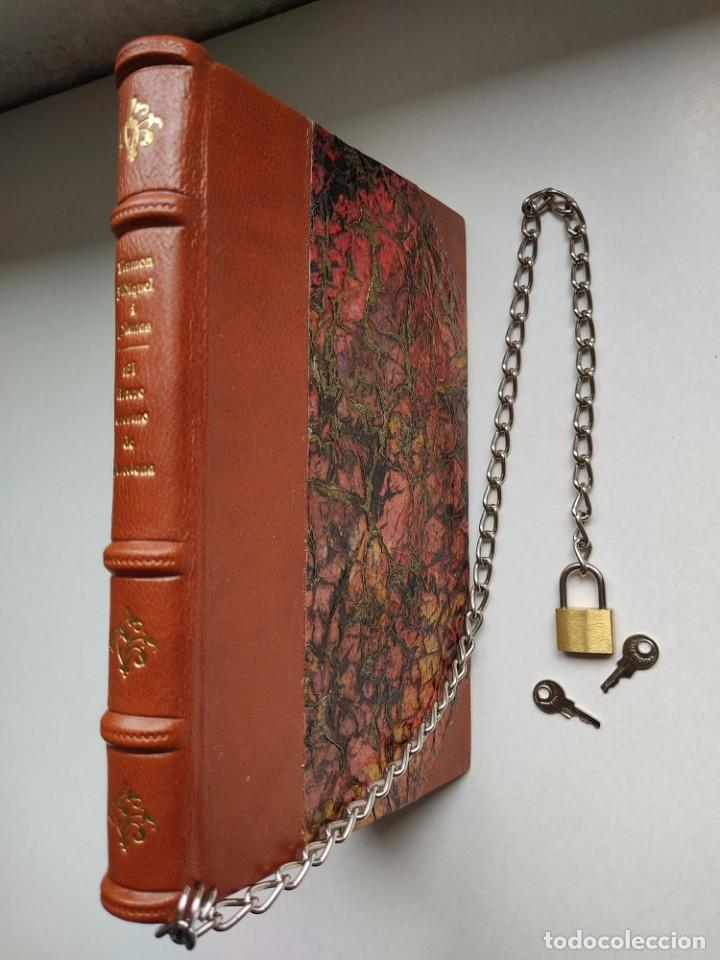Libros antiguos: ¡¡ Libro encadenado artesanal !! El librero asesino de Barcelona (1991)/ Ramón Miquel i Planas - Foto 6 - 267406179