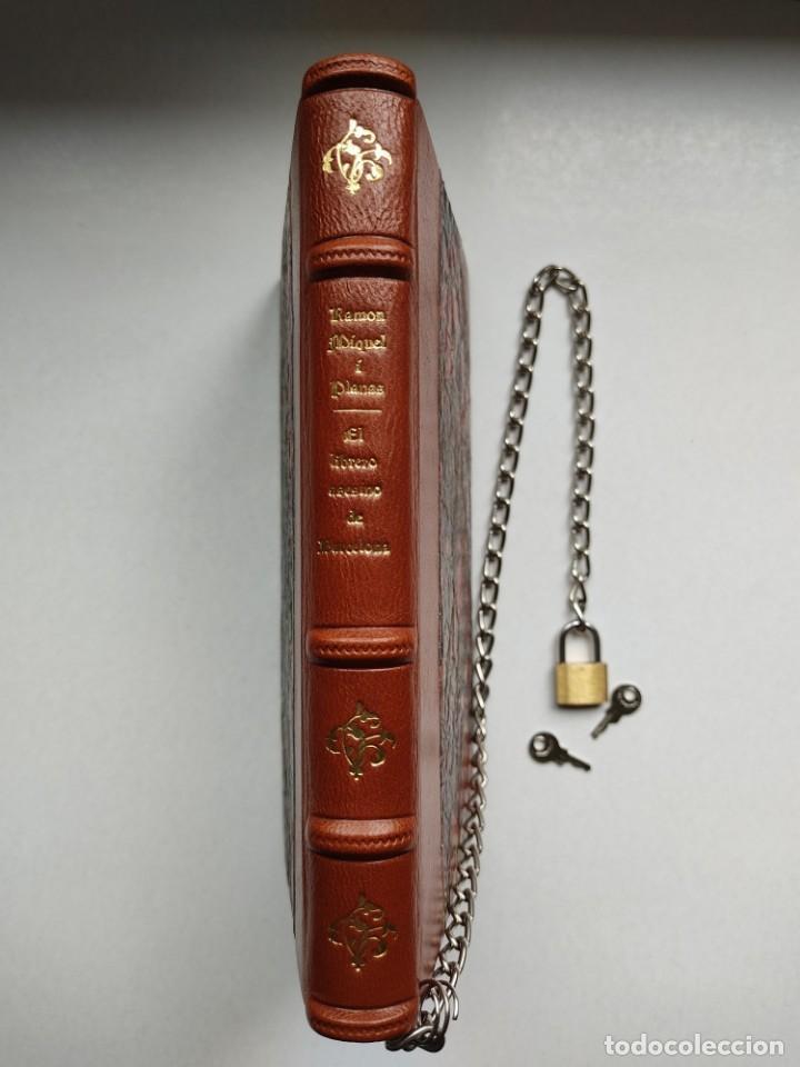 Libros antiguos: ¡¡ Libro encadenado artesanal !! El librero asesino de Barcelona (1991)/ Ramón Miquel i Planas - Foto 7 - 267406179