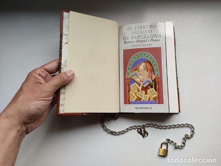 Libros antiguos: ¡¡ Libro encadenado artesanal !! El librero asesino de Barcelona (1991)/ Ramón Miquel i Planas - Foto 13 - 267406179