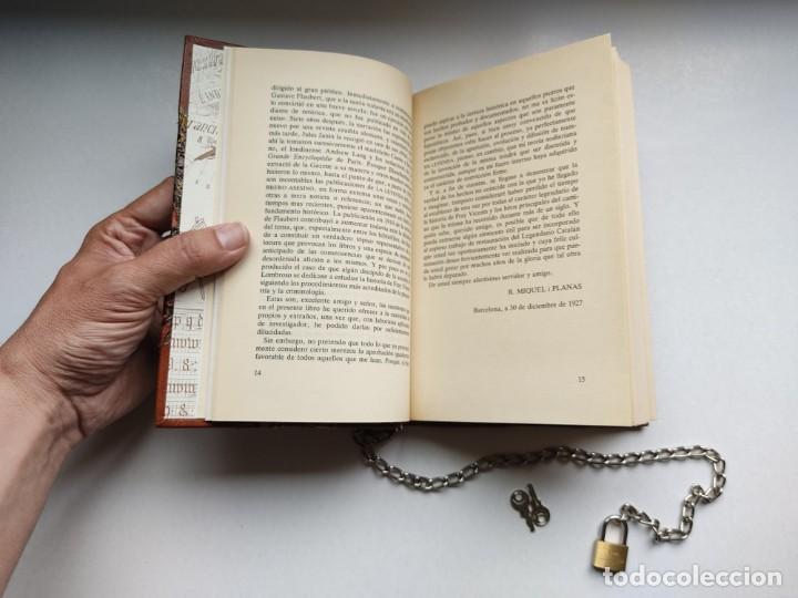 Libros antiguos: ¡¡ Libro encadenado artesanal !! El librero asesino de Barcelona (1991)/ Ramón Miquel i Planas - Foto 16 - 267406179