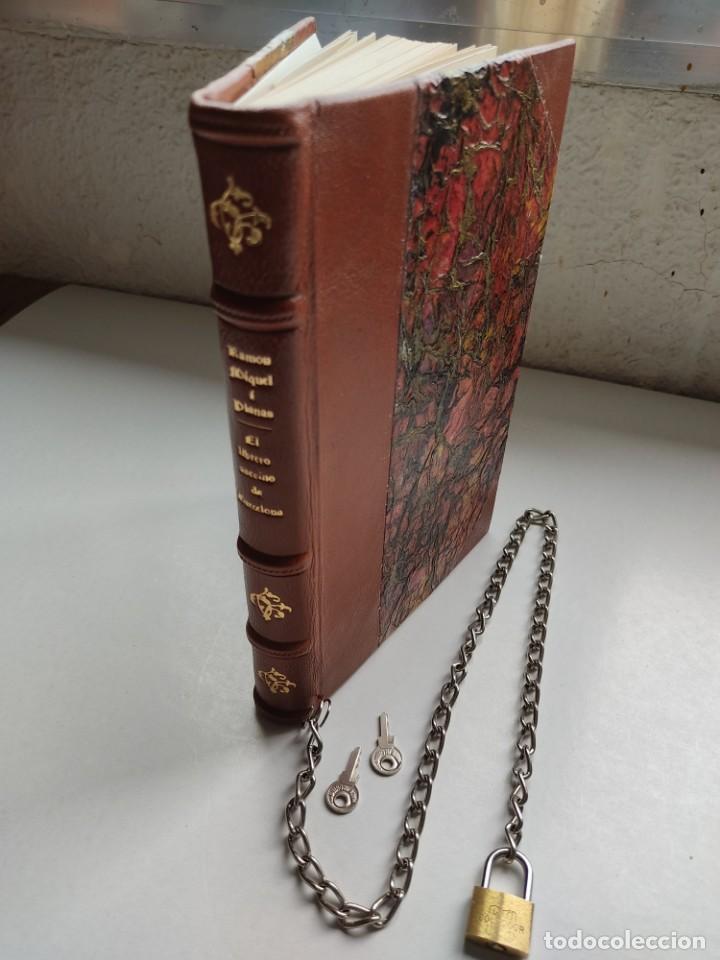 Libros antiguos: ¡¡ Libro encadenado artesanal !! El librero asesino de Barcelona (1991)/ Ramón Miquel i Planas - Foto 19 - 267406179