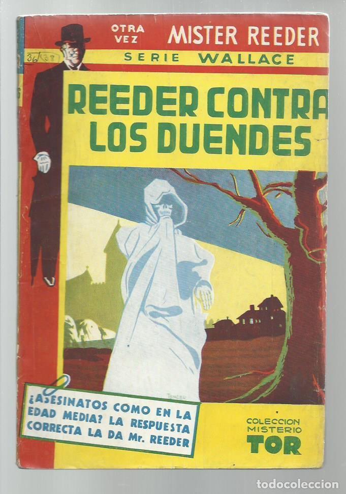REEDER CONTRA LOS DUENDES, 1951, TOR (ARGENTINA), BUENE STADO. COLECCIÓN A.T. (Libros antiguos (hasta 1936), raros y curiosos - Literatura - Terror, Misterio y Policíaco)