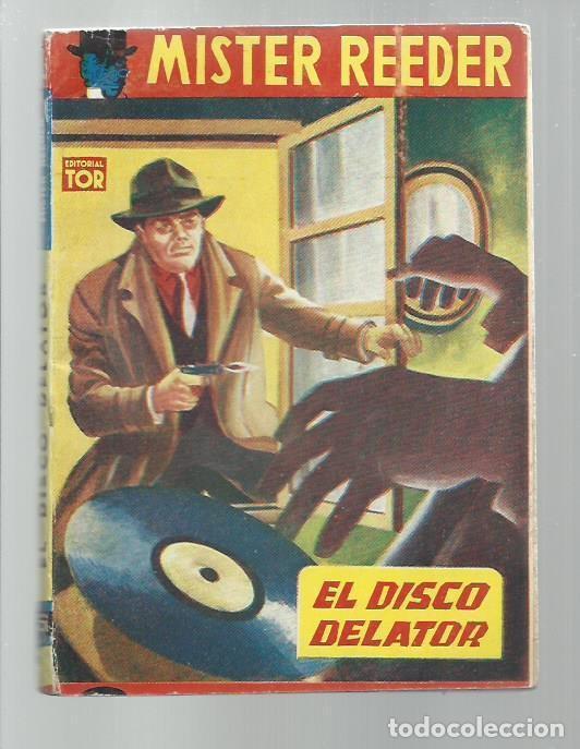 MISTER REEDER 93: EL DISCO DELATOR, 1957, TOR (ARGENTINA), BUEN ESTADO. COLECCIÓN A.T. (Libros antiguos (hasta 1936), raros y curiosos - Literatura - Terror, Misterio y Policíaco)