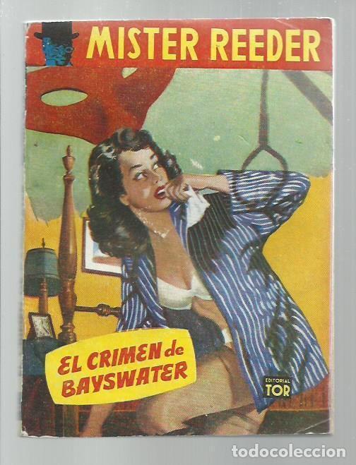 MISTER REEDER 54: EL CRIMEN DE BAYSWATER, 1957, TOR (ARGENTINA), BUEN ESTADO. COLECCIÓN A.T. (Libros antiguos (hasta 1936), raros y curiosos - Literatura - Terror, Misterio y Policíaco)