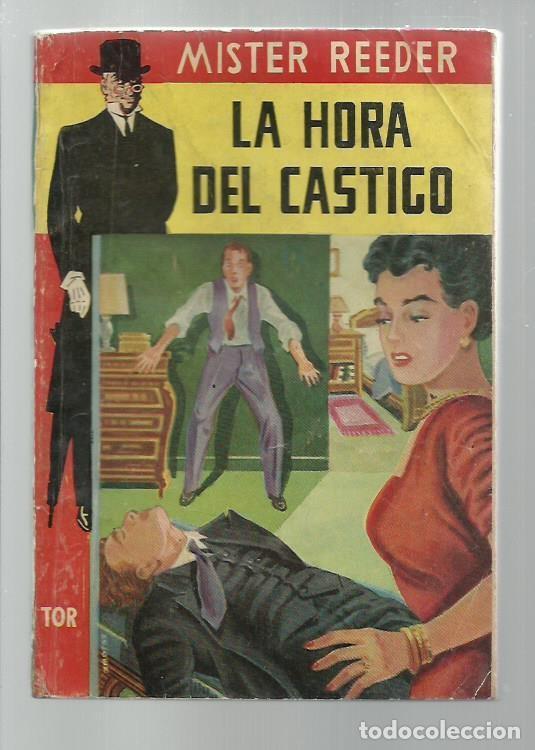 MISTER REEDER 1: LA HORA DEL CASTIGO, 1956, TOR (ARGENTINA), MUY BUEN ESTADO. COLECCIÓN A.T. (Libros antiguos (hasta 1936), raros y curiosos - Literatura - Terror, Misterio y Policíaco)