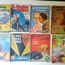 Libros antiguos: LOTE SEXTON BLAKE Y NOVELA AVENTURA 1934 1935 MÁS DE 50 TÍTULOS. Lote 268846889