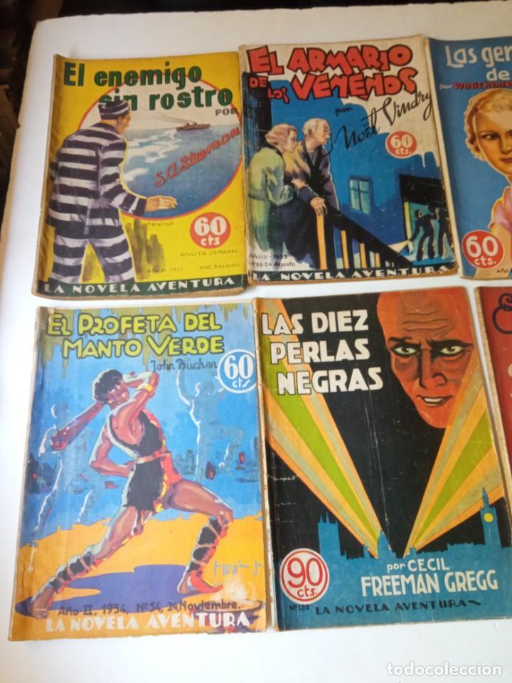 Libros antiguos: Lote Sexton Blake y Novela Aventura 1934 1935 más de 50 títulos - Foto 3 - 268846889
