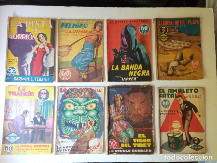Libros antiguos: Lote Sexton Blake y Novela Aventura 1934 1935 más de 50 títulos - Foto 8 - 268846889