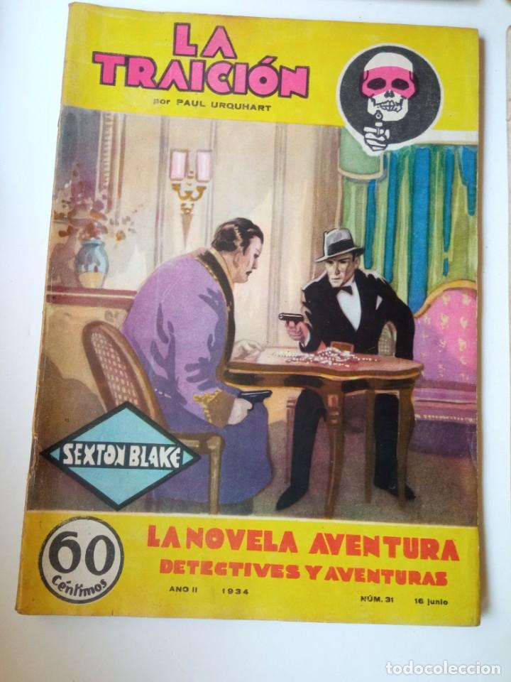 Libros antiguos: Lote Sexton Blake y Novela Aventura 1934 1935 más de 50 títulos - Foto 9 - 268846889