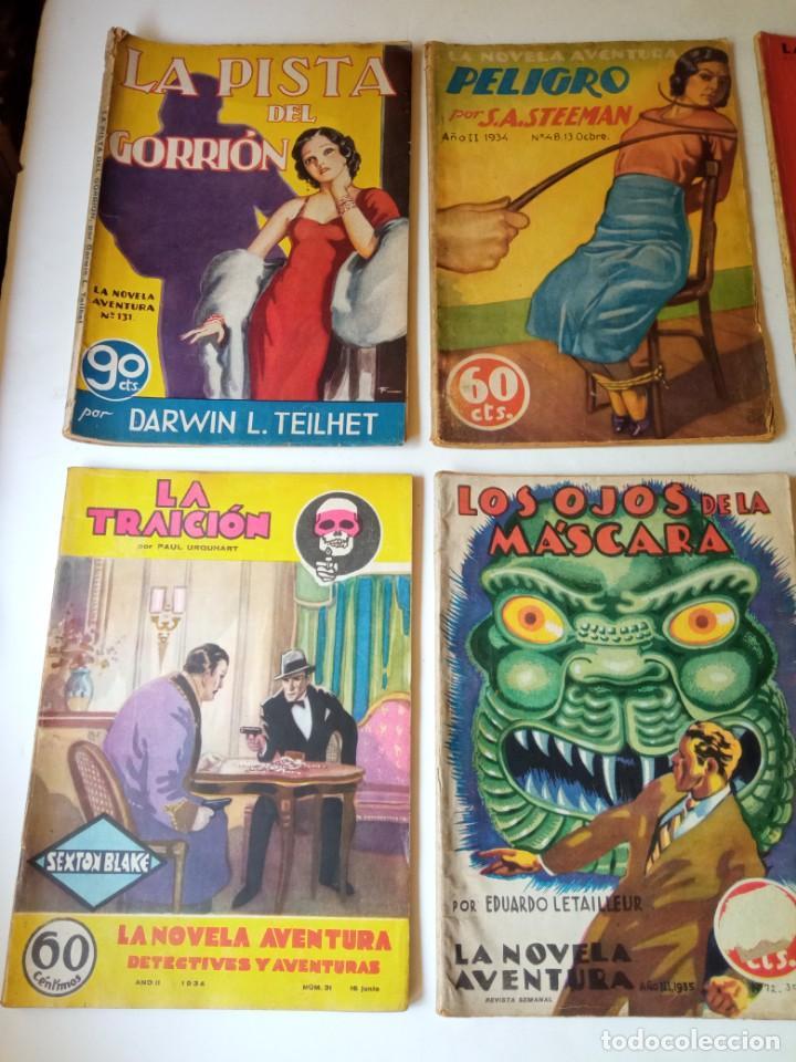 Libros antiguos: Lote Sexton Blake y Novela Aventura 1934 1935 más de 50 títulos - Foto 10 - 268846889