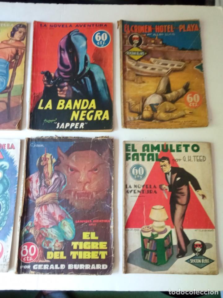 Libros antiguos: Lote Sexton Blake y Novela Aventura 1934 1935 más de 50 títulos - Foto 11 - 268846889