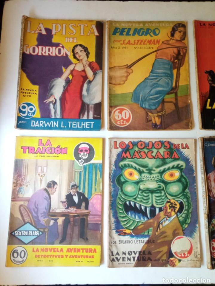 Libros antiguos: Lote Sexton Blake y Novela Aventura 1934 1935 más de 50 títulos - Foto 12 - 268846889