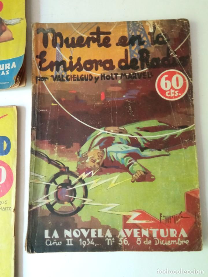 Libros antiguos: Lote Sexton Blake y Novela Aventura 1934 1935 más de 50 títulos - Foto 16 - 268846889