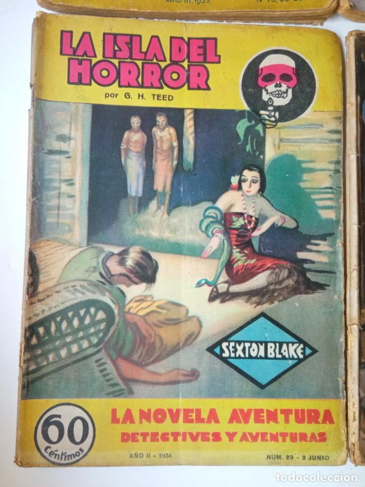 Libros antiguos: Lote Sexton Blake y Novela Aventura 1934 1935 más de 50 títulos - Foto 22 - 268846889