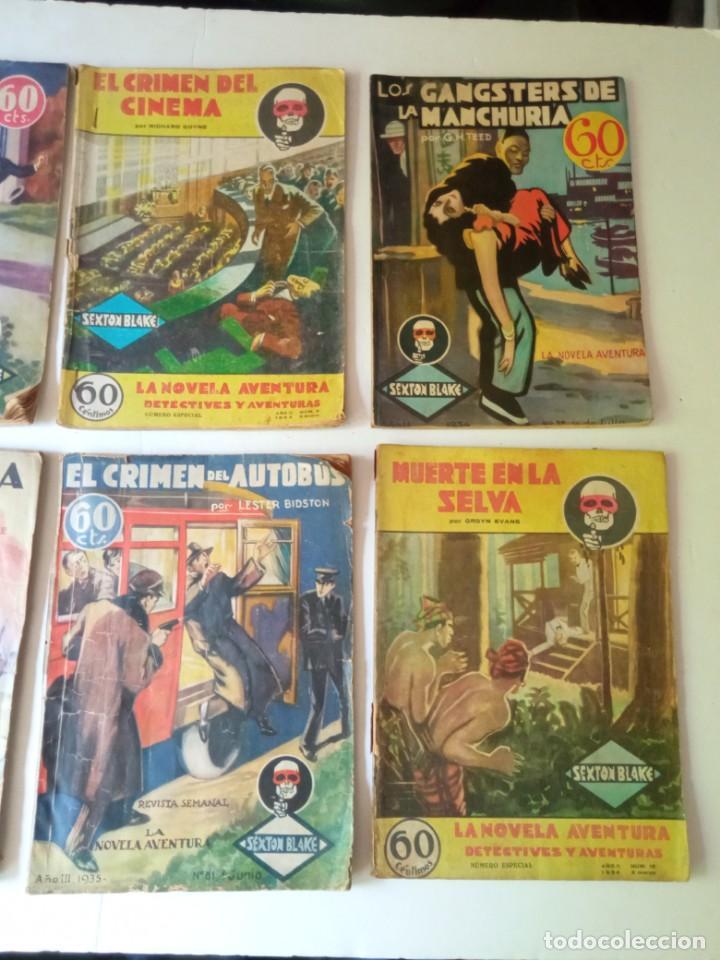 Libros antiguos: Lote Sexton Blake y Novela Aventura 1934 1935 más de 50 títulos - Foto 23 - 268846889