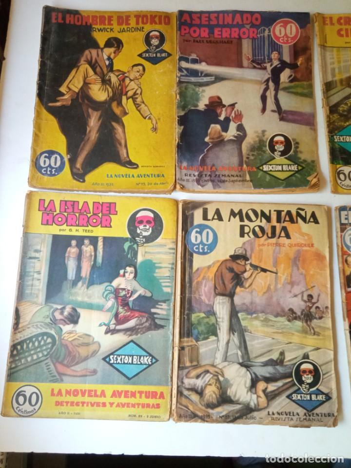 Libros antiguos: Lote Sexton Blake y Novela Aventura 1934 1935 más de 50 títulos - Foto 24 - 268846889