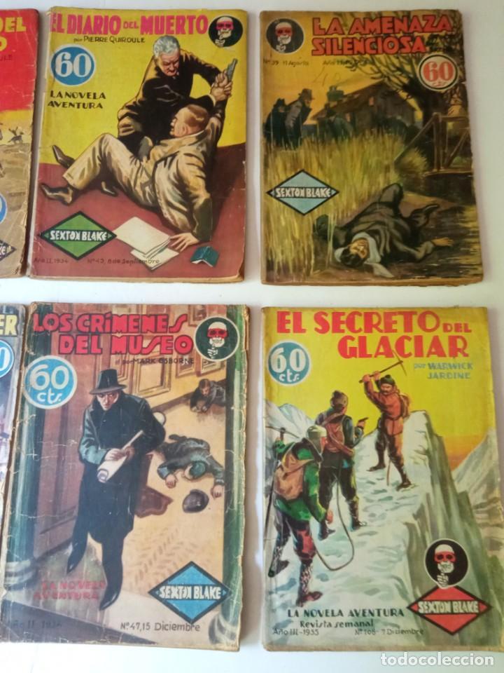 Libros antiguos: Lote Sexton Blake y Novela Aventura 1934 1935 más de 50 títulos - Foto 26 - 268846889