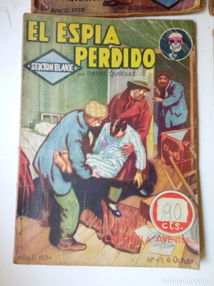 Libros antiguos: Lote Sexton Blake y Novela Aventura 1934 1935 más de 50 títulos - Foto 27 - 268846889