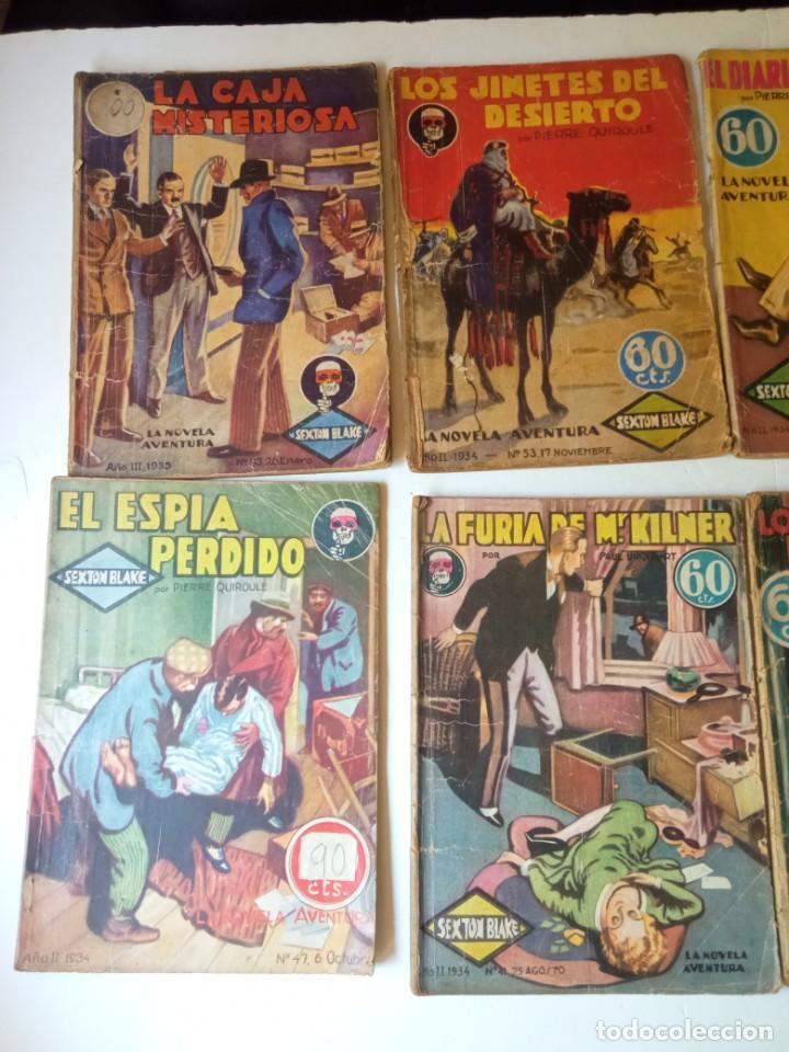 Libros antiguos: Lote Sexton Blake y Novela Aventura 1934 1935 más de 50 títulos - Foto 28 - 268846889