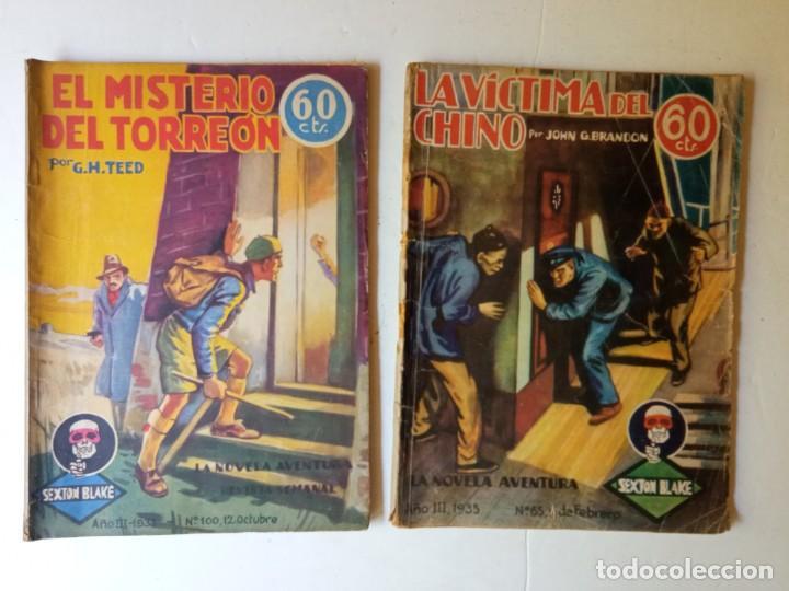 Libros antiguos: Lote Sexton Blake y Novela Aventura 1934 1935 más de 50 títulos - Foto 29 - 268846889