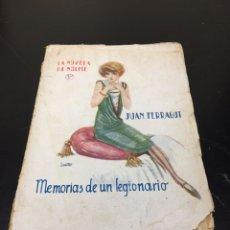 Libros antiguos: ANTIGUO LIBRO DE JUAN FERRAGUT, MEMORIAS DE UN LEGIONARIO. AÑO 1925, MADRID.. Lote 269484438