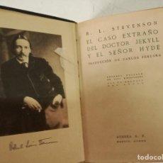 Libros antiguos: 1920, EL CASO EXTRAÑO DEL DOCTOR JEKYLL Y EL SEÑOR HYDE, R. L. STEVENSON, ATENEA, MADRID (C1). Lote 271025613