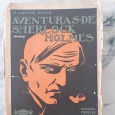 Libros antiguos: CONAN DOYLE : AVENTURAS DE SHERLOCK HOLMES - UN CRIMEN EXTRAÑO (PROMETEO, S.F.). Lote 273627153