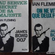"""Libros antiguos: LOT DE 2 LIVRES EN FRANÇAIS """"JAMES BOND"""" AU SERVICE SECRET DE SA MAJESTÉ , ON NE VIT QUE DEUX FOIS. Lote 276498633"""