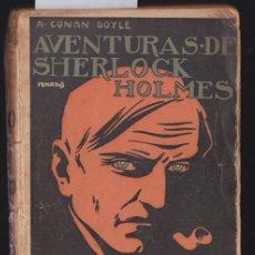 Libros antiguos: * SHERLOCK HOLMES * UN CRIMEN EXTRAÑO / POR ARTURO CONAN DOYLE ; ILUSTRACIÓN DE CUBIERTA DE PENAGOS. Lote 277453058