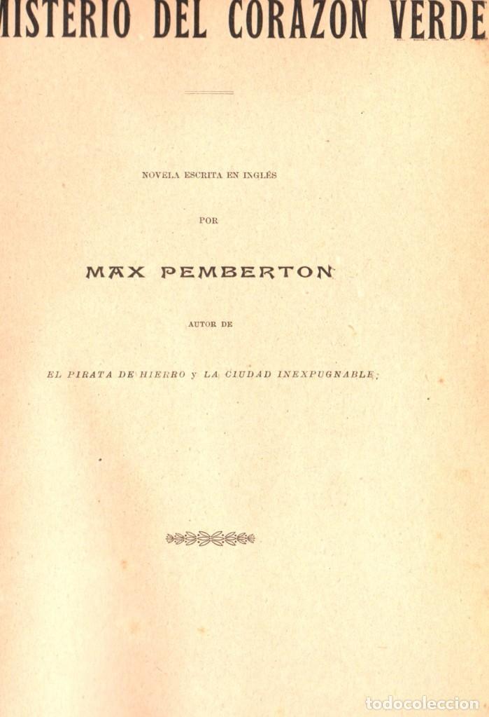 Libros antiguos: NOVELAS CORTAS 1 y 2 - MAX PEMBERTON, LUIS TRACY, Y MÁS - BIBLIOTECA ALREDEDOR DEL MUNDO 1899 - Foto 4 - 287826343