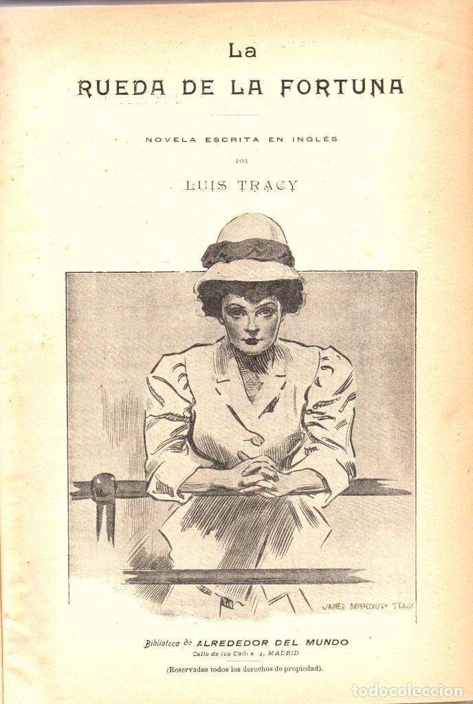 Libros antiguos: NOVELAS CORTAS 1 y 2 - MAX PEMBERTON, LUIS TRACY, Y MÁS - BIBLIOTECA ALREDEDOR DEL MUNDO 1899 - Foto 5 - 287826343