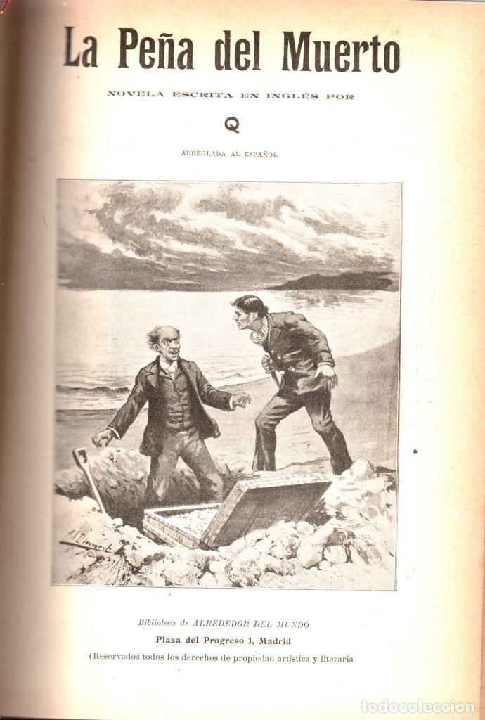 Libros antiguos: VARIAS NOVELAS CORTAS, MISTERIO Y POLICIACAS - BIBLIOTECA ALREDEDOR DEL MUNDO 1899 - Foto 2 - 287832243