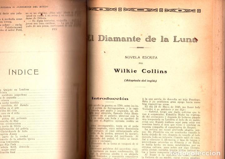 Libros antiguos: VARIAS NOVELAS CORTAS, MISTERIO Y POLICIACAS - BIBLIOTECA ALREDEDOR DEL MUNDO 1899 - Foto 4 - 287832243