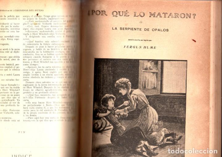 Libros antiguos: VARIAS NOVELAS CORTAS, MISTERIO Y POLICIACAS - BIBLIOTECA ALREDEDOR DEL MUNDO 1899 - Foto 5 - 287832243
