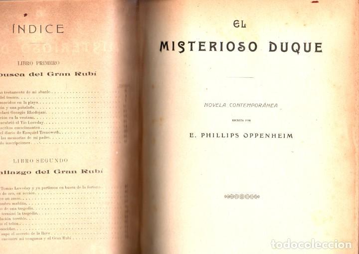 Libros antiguos: VARIAS NOVELAS CORTAS, MISTERIO Y POLICIACAS - BIBLIOTECA ALREDEDOR DEL MUNDO 1899 - Foto 6 - 287832243