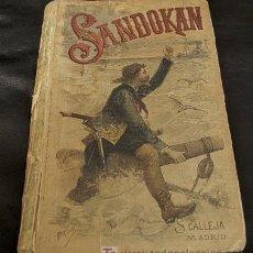 Libros antiguos: SANDOKAN. E. SALGARI. BIBLIOTECA CALLEJA. XX. . Lote 25495167