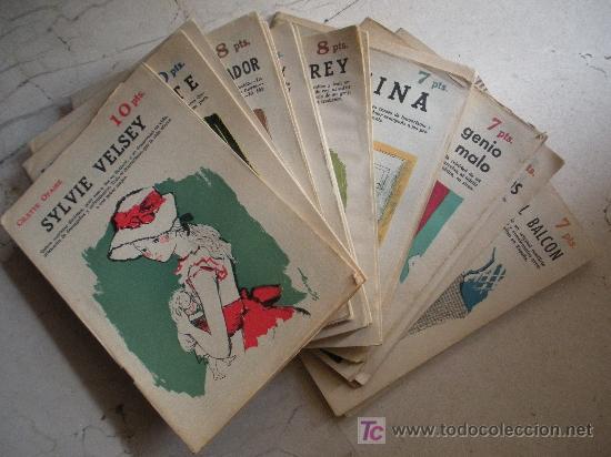 DIECINUEVE REVISTAS LITERARIA NOVELAS Y CUENTOS. (Libros Antiguos, Raros y Curiosos - Literatura Infantil y Juvenil - Novela)