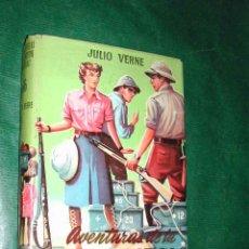 Libros antiguos: JULIO VERNE: AVENTURAS DE LA MISION BARSAC, ED.MATEU. CADETE N.66, ILUSTRACIONES FARIÑAS. Lote 17809459