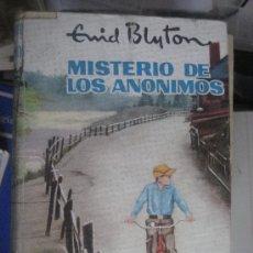 Libros antiguos: MISTERIO DE LOS ANONIMOS. ENID BLYTON. SERIE AVENTURA, Nº 23. EDITORIAL MOLINO, 1960. 1ª EDICION.. Lote 24371576