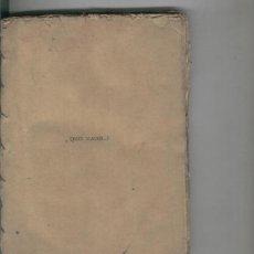 Libros antiguos: QUO VADIS.....? ENRIQUE SIENKIEWICZ. EDICION POPULAR. . Lote 21438870