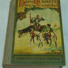 Libros antiguos: DON QUIJOTE DE LA MANCHA-EDICION PARA NIÑOS-DALMAU CARLES PLA-GERONA 1931-. Lote 28325294
