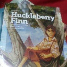 Libros antiguos: HUCKLEBERRY FINN - MARK TWAIN - EDIC. ABREVIADA E ILUSTRADA. Lote 28623007