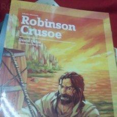 Libros antiguos: ROBINSON CRUSOE - DANIEL DEFOE - EDIC. ABREVIADA E ILUSTRADA. Lote 28623090