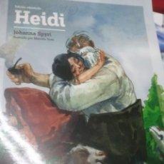 Libros antiguos: HEIDI - JOHANNA SPYRI - EDIC. ABREVIADA E ILUSTRADA. Lote 28623172