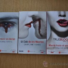 Livros antigos: LOTE DE 3 LIBROS DE TRUE BLOOD DE CHARLANE HARRIS . Lote 29153334